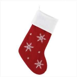 SNOWFLAKE PATTERN CHRISTMAS XMAS HOLIDAY STOCKING HANG