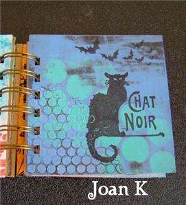 CHAT NOIR   Black cat  UM rubber stamp by Cherry Pie