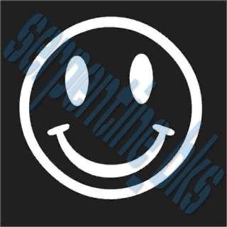 Smiley Face Car Vinyl Window Bumper Decal Sticker