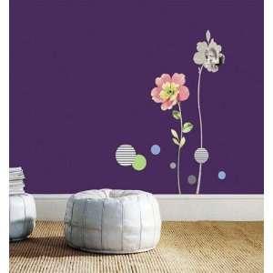 FLOWER WALL Peel & Stick Mural Decor STICKER SS 58221