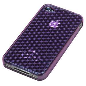 Purple Diamond Candy Skin Cover Silicone Case for Apple iPhone 4 4G