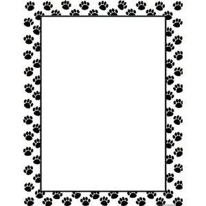 CREATED RESOURCES BLACK PAW PRINTS BLANK CHART: Everything Else
