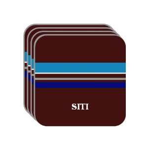 Personal Name Gift   SITI Set of 4 Mini Mousepad Coasters (blue