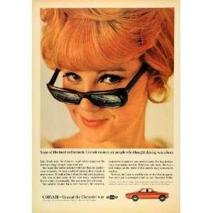 1966 Ad General Motors Chevrolet Corvair Auto Woman