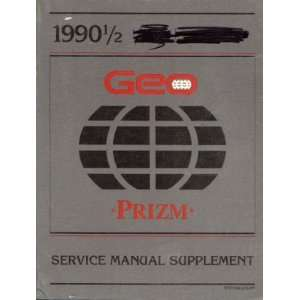 Prizm Service Manual Supplement Chevrolet Pontiac Canada Group Books