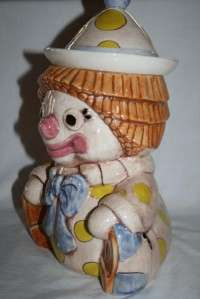 TREASURE CRAFT USA Vintage Clown Cookie Jar