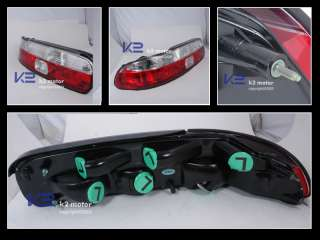 1992 1994 LEXUS SC300 SC400 JDM RED/CLEAR TAIL LIGHTS