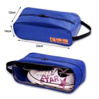Blue Travel Shoe Tote Bag Case Carrier Holder Clear Window s02