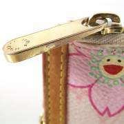 LOUIS VUITTON Pink Cherry Blossom Key Holder Cles Chain