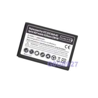 3500mAh extended battery for sprint HTC EVO SHIFT 4G ONE YEAR WARRANTY