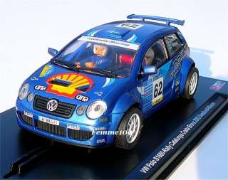 POWERSLOT VW Polo S1600 Blue SHELL Oil 132 slot car