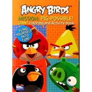 Angry Birds Coloring Book Mission: Pig Possible! with 96