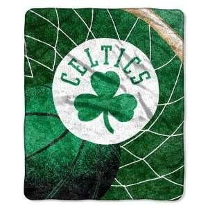 Boston Celtics Super Soft Sherpa Blanket Sports
