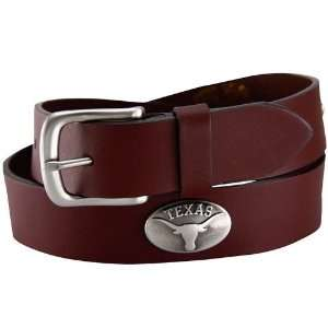 Texas Longhorns Brown Leather Concho Belt