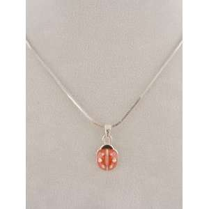 Fashion Jewelry ~ Lady Bug Silvertone Necklace Sports