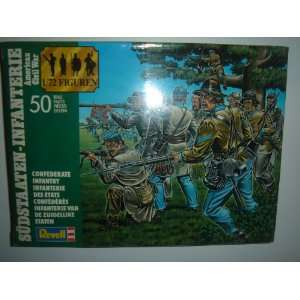 American Civil War Confederate Infantry Model Kit #2558: Toys & Games