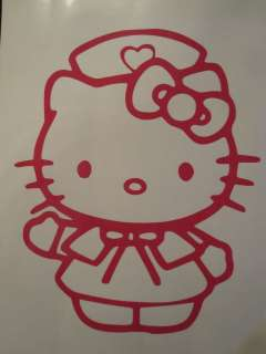 Hello Kitty NURSE vinyl decal sticker available in 23 colors