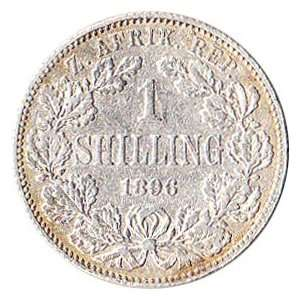 1896 South Africa 1 Shilling Silver Coin KM#5 Everything