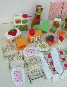 Vintage 1980s Strawberry Shortcake Berry Happy House Home Furniture