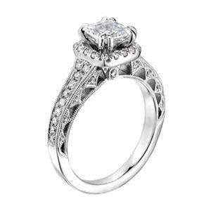 80Ct Round Cut Halo Set Diamond White Gold Solitaire Wedding Ring Band
