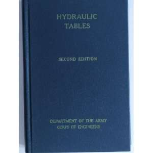 Hydraulic Tables Corps of Engineers War Department Books