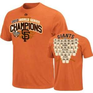 San Francisco Giants Youth 2010 World Series Champions On The Mark