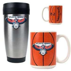 Atlanta Hawks NBA Stainless Steel Travel Tumbler & Game ball Ceramic