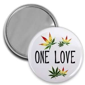 Creative Clam One Love Reggae 420 Marijuana Pot Leaf 2.25