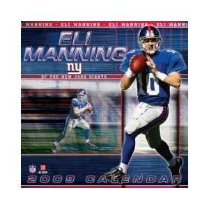 ELI MANNING New York Giants 2009 NFL Monthly 12 X 12 PLAYER WALL