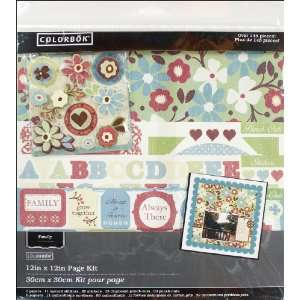com Colorbok Family Ties Scrapbook Page Kit 12x12 Kitchen & Dining