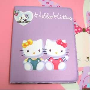 Cute Hello Kitty Leather Case Stand for Apple iPad 2   Mimi And Kitty