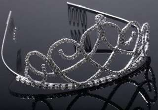 CRYSTAL TASSELS BRIDAL WEDDING ELEGANT JEWELRY CROWN TIARA NECKLACE