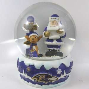 Baltimore Ravens 2011 NFL Holiday Snow Globe