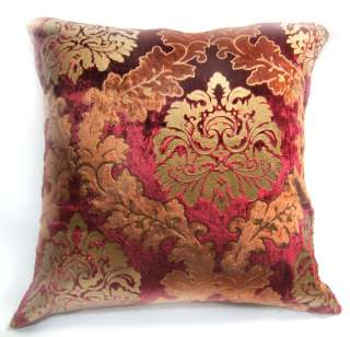 EW03 Red Gold Embroider Aster Velvet Cushion/Pillow/Throw Cover*Custom