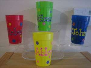 PERSONALIZED KIDS PARTY FAVOR TUMBLERS CUPS BIRTHDAY COMMUNIONS
