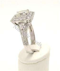 70CT ASSCHER CUT SPLIT SHANK DIAMOND ENGAGEMENT RING