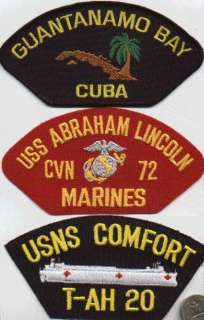 USMC BASEBALL CAP/HAT PATCH USS ABE LINCOLN CVN 72 MARINE DETACHMENT