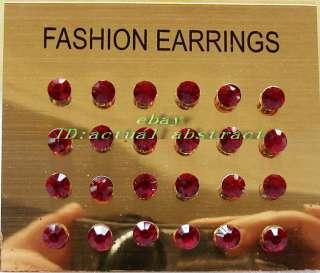 wholesale144xCzech rhinestone crystal earring &display