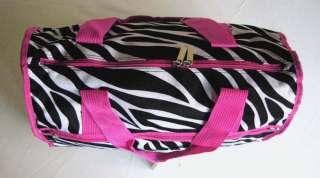 19Duffel/Tote Bag Luggage/Purse Travel Case Zebra Pink