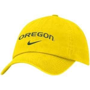 Nike Oregon Ducks Yellow Campus Adjustable Hat: Sports