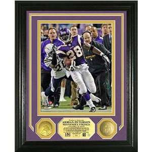 Adrian Peterson Nfl Single Game Rushing Record Photo Mint W