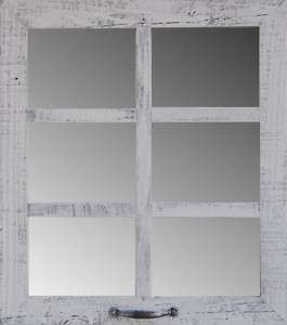 Rustic 6 Pane Barnwood Frame 19 1/2 x 22 Window Mirrors Wall Home