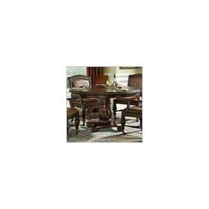 Steve Silver Antoinette Round Formal Dining Table in Distressed Cherry