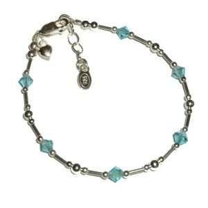 Baby Birthstone Bracelet for Infant 0 12 months (March Birthstone