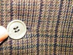 NEW PAUL RODON Mens BROWN BLACK Jacket DB Sport Coat SILK Wool Blazer