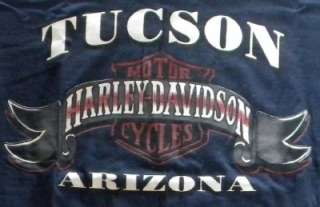 BRAND NEW MENS HARLEY DAVIDSON TUCSON, AZ T SHIRT 100% AUTHENTIC L