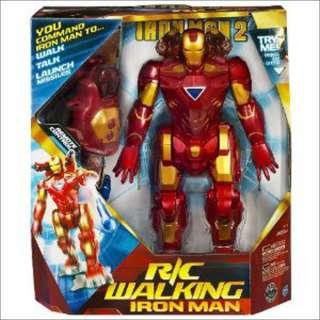 Hasbro Iron Man Man Walking Remote Control Robot NEW
