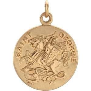 Genuine IceCarats Designer Jewelry Gift 14K Yellow Gold St. George