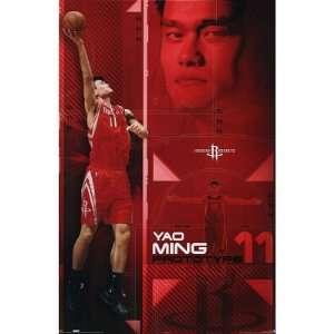 Yao Ming Houston Rockets NBA Basketball POSTER Dunk