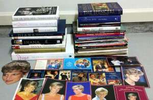 Lady Diana Spencer Books, Magazine & Postcard Collection, Tiara